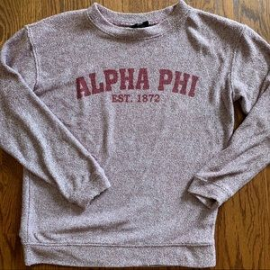 Tops - cozy alpha phi sweatshirt